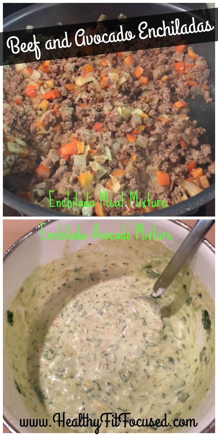 Beef and Avocado Enchiladas, Healthy Recipe, 21 Day Fix Approved,  www.HealthyFitFocused.com