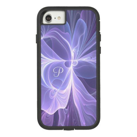 Monogram Purple Abstract Modern Fractal Case-Mate Tough Extreme iPhone 8/7 Case #fractal #pattern #iphone #protective #cases