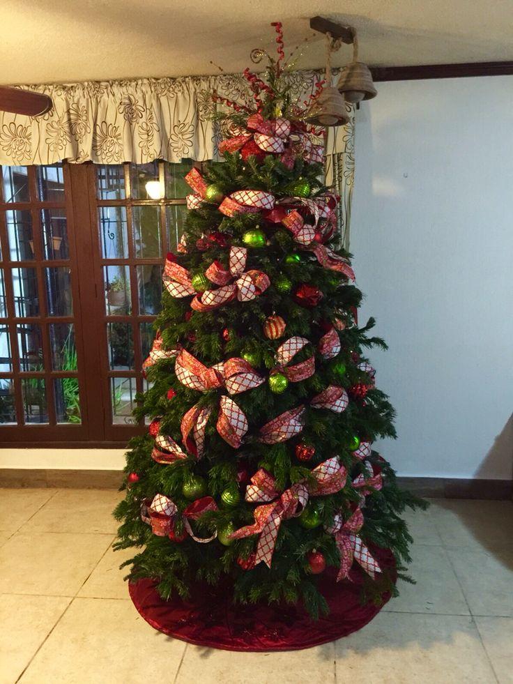 Mejores 46 im genes de arbol de navidad en pinterest - Cintas para arbol de navidad ...