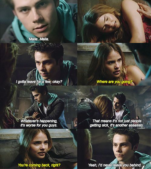 Teen Wolf *sigh* I hope she forgives him. I don't want to see Stiles heartbroken so early in his first kind of serious relationship. :/