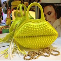 bolso de embrague de los labios tachonado en colores del caramelo, bolsos de moda para niñas
