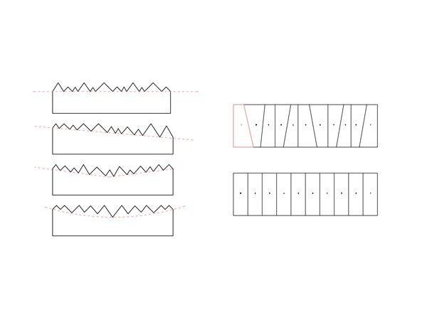 """Architecten DVVT -""""Ook de daklijnen verspringen. Iedere woning krijgt zijn eigen dak.""""-"""