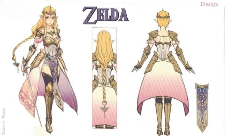Zelda Concept art from nintendo power.