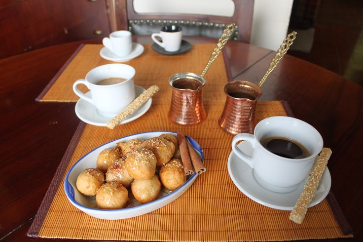 Loukoumades with coffee!