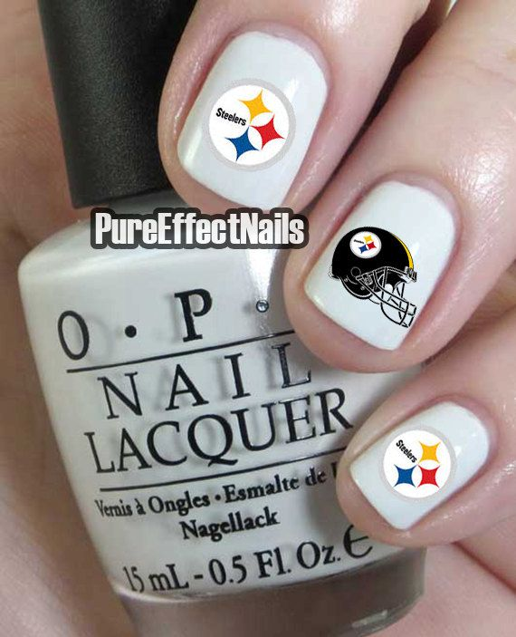 Pittsburgh Steelers Nail Decals by PureEffectNails on Etsy, $4.00