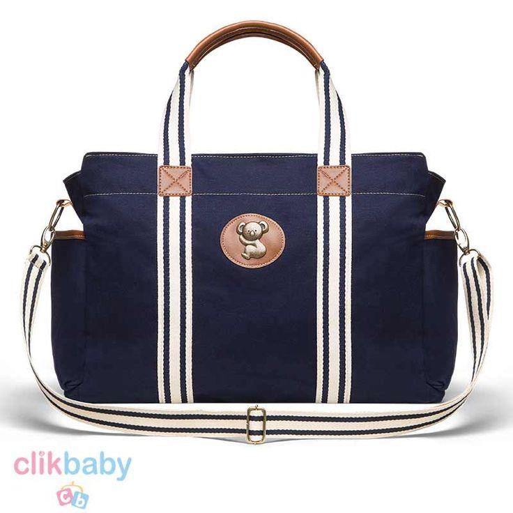 Bolsa Maternidade Classic For Baby Albany Adventure Sarja - Azul Marinho