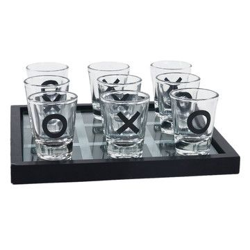Tic Tac Toe Shot Glass Game now featured on Fab - cute idea for a party and some fun mixed-drink shots