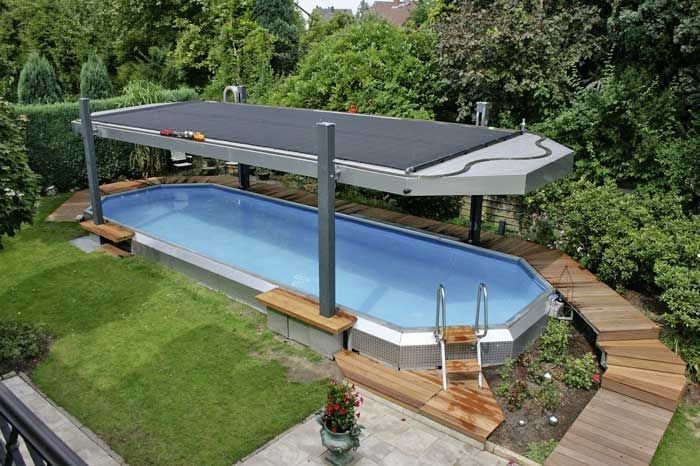 Container Pool Abdeckung Google Suche Pool Canopy Swimming Pools Backyard Small Backyard Pools