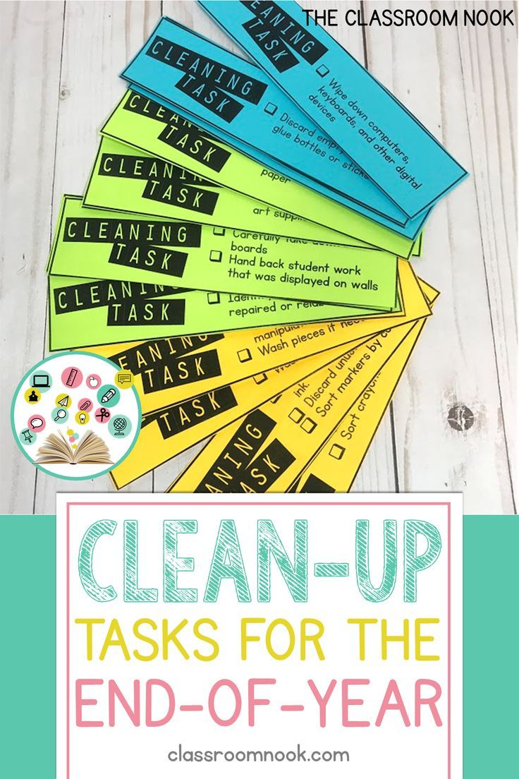 End of Year Clean-Up Tasks for Students