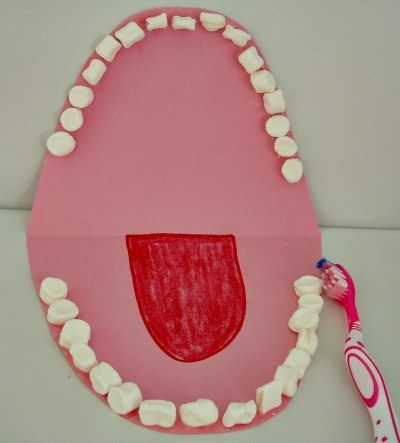 M is for mouth, a great preschool activity for dental hygene or another letter M idea.