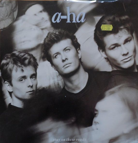 """A-HA Stay On These Roads 1988 UK 12"""" Maxi Vinyl Single Record Synth Pop 80s electro new wave music aha w7936t Free Shipping"""