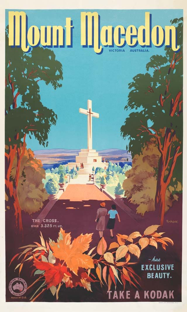 Mount Macedon by James Northfield - http://www.australianvintageposters.com.au/shop/mount-macedon-by-james-northfield/