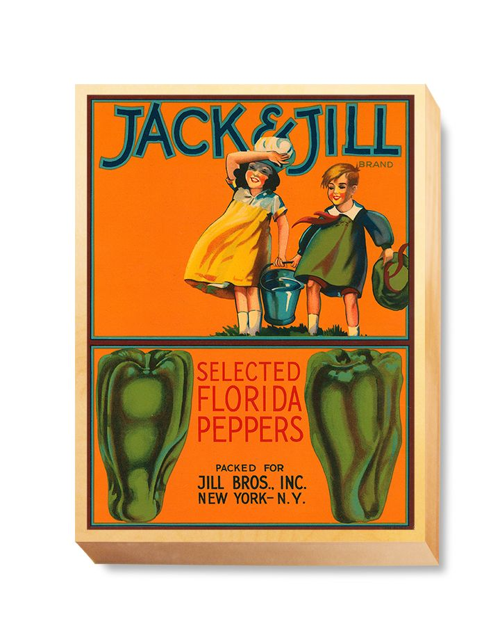 LAB 031 Crate Label Jack and Jill Peppers