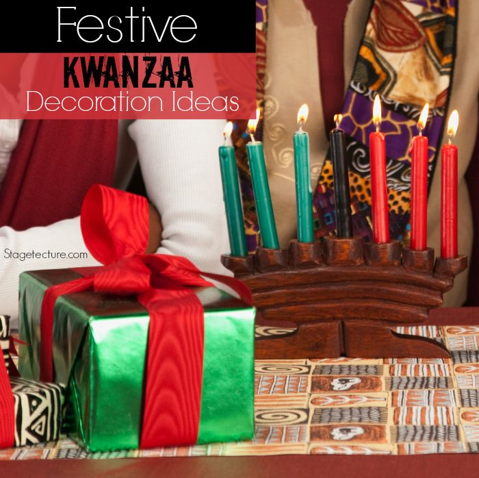 How To Transform Your Home With Kwanzaa Decorations. See how to celebrate and decorate your home for this week-long celebration starting Dec. 26th. http://stagetecture.com/transform-home-kwanzaa-decorations/ #holidays #kwanzaa