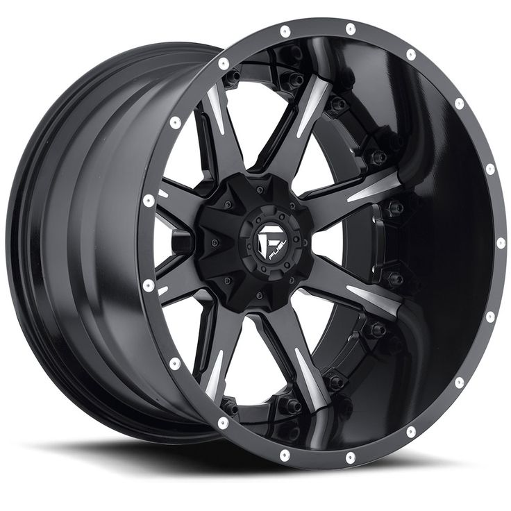 D251 - Nutz Black & Milled - Fuel Off-Road Wheels