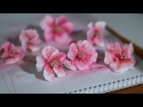 Цветы из бумаги своими руками. Гибискусы. Мастер класс скрапбукинг