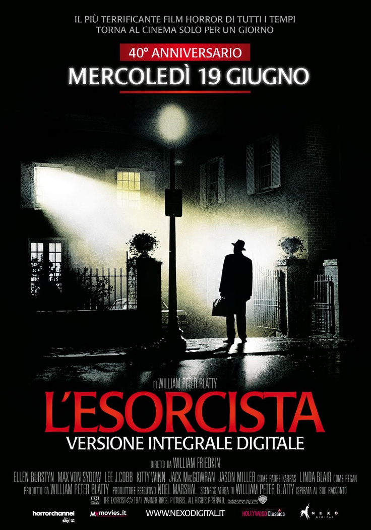 L'esorcista - 40 anni dopo L'Esorcista torna al cinema restaurato e digitalizzato nella versione Director's Cut, con i suoi 11 minuti di scene terrificanti eliminate nell'edizione del 1973.