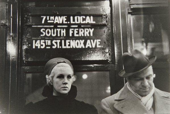 Walker Evans, Subway Portrait, New York City, 1938-41