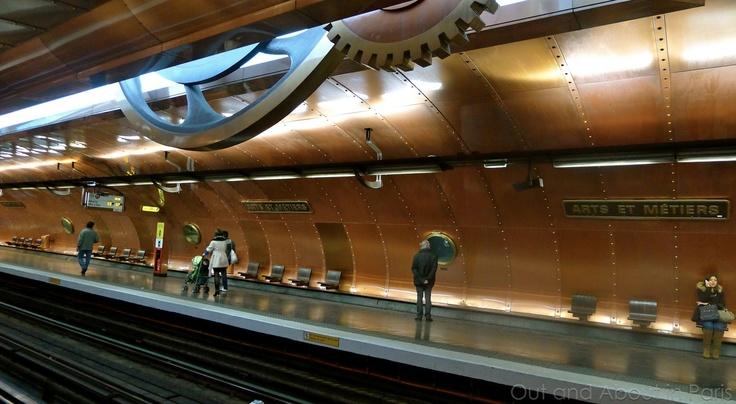 Arts et Métiers (Paris Métro) - Steampunk Subway station