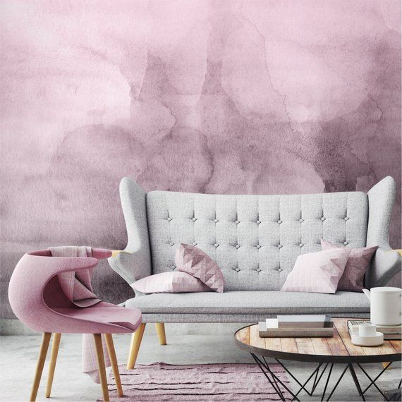 Pink Quartz Ombre Wallpaper Luxury Removable Peel And Etsy Ombre Wallpapers Wall Murals Wallpaper And Tiles