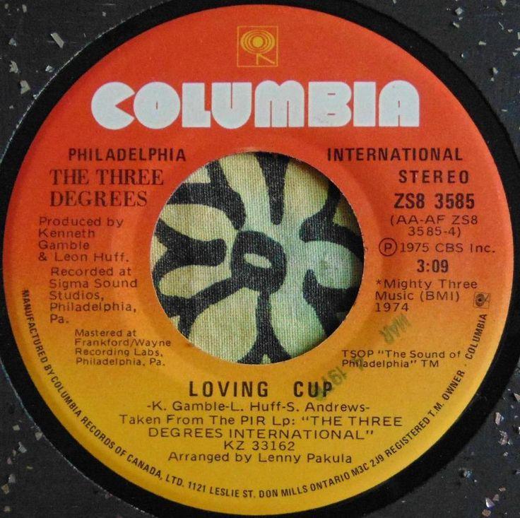 R&B..THREE DEGREES..LOVING CUP & FREE RIDE (EDGAR WINTER)..1974..(M-)..CAN HEAR #CLASSICROCKPOPEASYLISTENINGROCKNROLLClassicRBFunkPOPVOCALS
