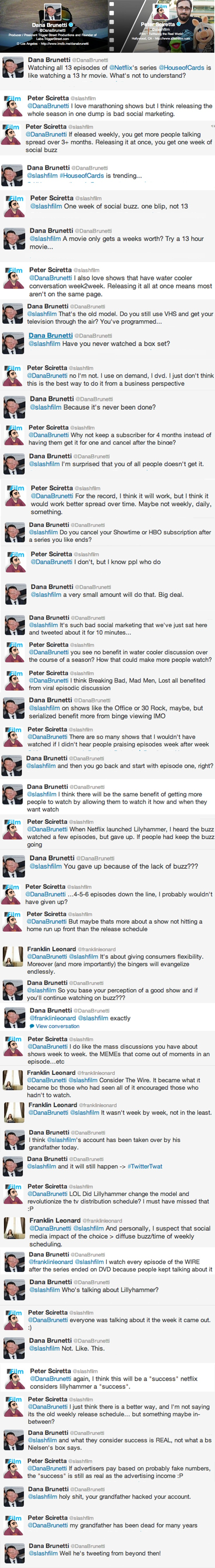Slash Film vs Brunetti Does It Make Sense to Release House of Cards at Once on Netflix? The Slash Film vs Dana Brunetti Debate