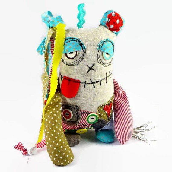 Personalized Monster Doll, Quirky Home Decor, Plush Monster, New Home Ornament, …