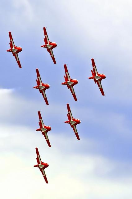 Snowbirds Borden Air Show 2012 by PicWilliams, via Flickr