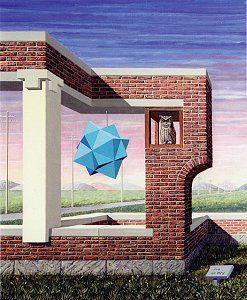Eigen-aardig architektuurtje met kristallo-grafisch kunstwerk