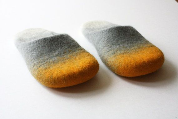 like a sunrise on the ocean horizon felted wool by Onstail on Etsy, $98.00