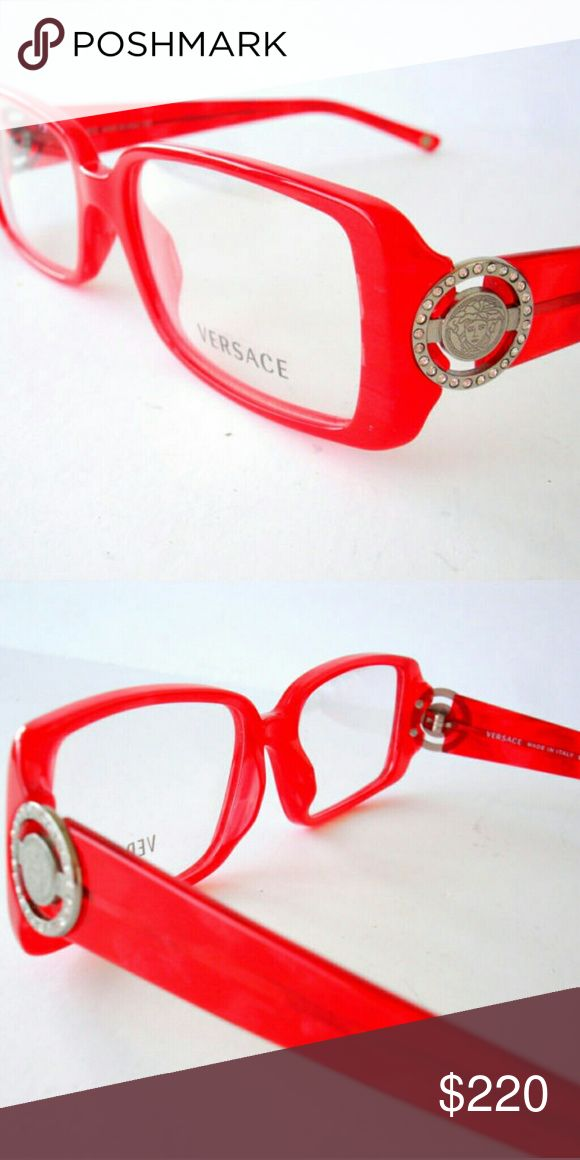 Versace eyeglasses New  Red frame  51-16-135 Includes case Versace Accessories Glasses