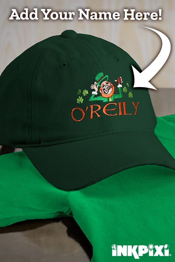3bba4229 Leprechauns may be small, but these personalized embroidered hats are a big  deal! #inkpixi #personalizedgifts #irish #leprechaun #customhats