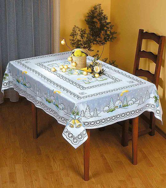 FashionSupreme - Față de masă albă de Crăciun - Pentru casă - Feţe de masă - Wisan - starea de spirit a Crăciunului. Haine şi accesorii de marcă. Haine de designer.