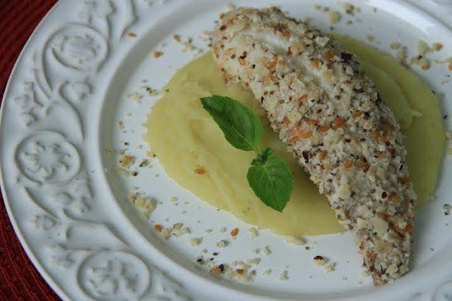 THERMOMIX: Peixe em crosta de castanha do Pará com purê de ba...