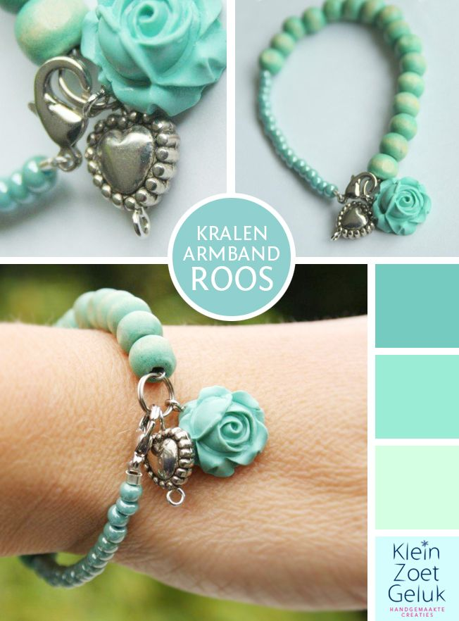 turquoise bracelet - like the two sizes of beads!  and the flower charm