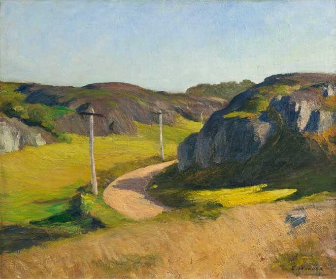 Edward Hopper, Road in Maine, 1914.   Oil on canvas.   Whitney Museum of American Art, New York, Josephine N. Hopper Bequest.