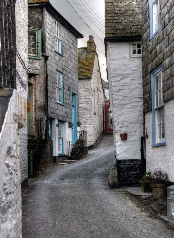 Photo of Church Hill - Port Isaac, Cornwall - port-isaac, cottage, village, street, port-wenn