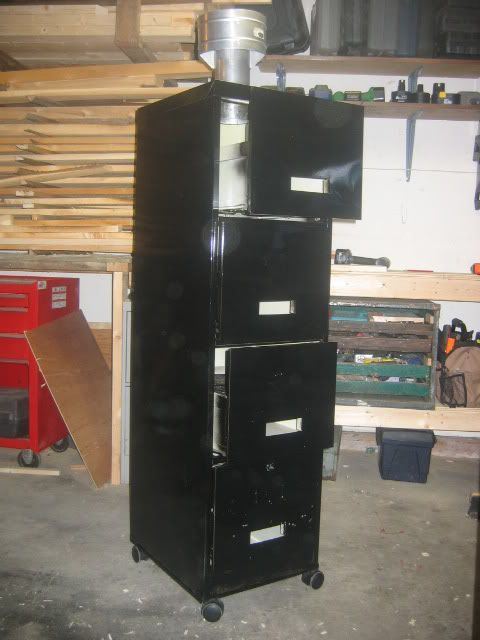 filing cabinet smoker - finished pics