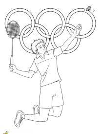 Coloriage 02jeux olympiques badminton
