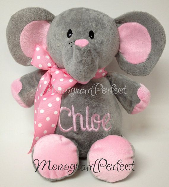 Personalized 16 Quot Plush Elephant Stuffed Animal Plush