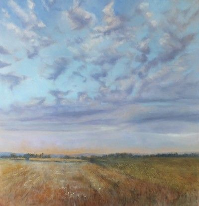 Fields of Gold 90cm x 90cm oil