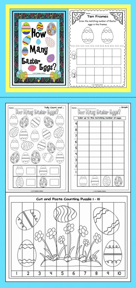 This Math unit has an Easter theme. Your students will have fun counting Easter eggs.