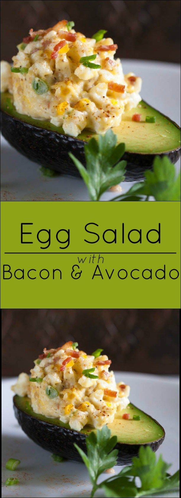 Egg Salad with Bacon and Avocado. Gluten free and low-carb.