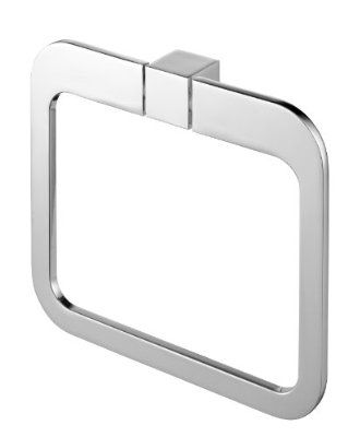 Bisk 02996 Futura Finished Towel Ring, 20 x 3 17.5 cm, Silver