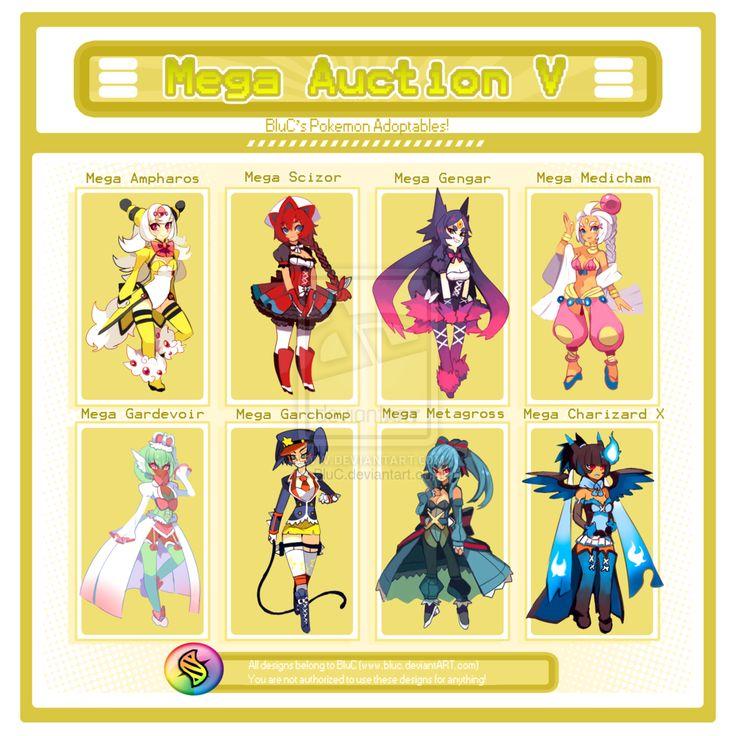 Mega Auction V: OVER! by BluC on deviantART Ampharos ...