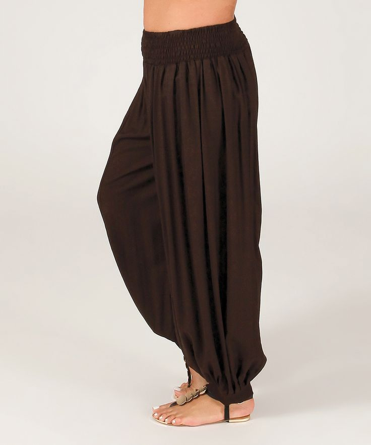 Chocolate Harem Pants - Plus