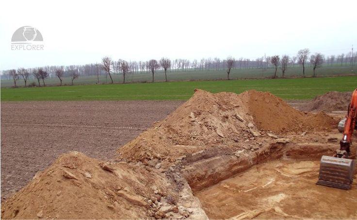 Nadzór archeologiczny nad pracami ziemnymi, związanymi ze stawianiem fundamentu pod siłownię wiatrową (wiatrak).