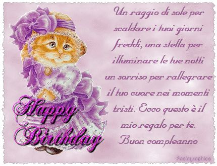 Préférence 24 best Buon compleanno images on Pinterest | Happy birthday  PL73