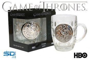 jarra cristal escudo metalico targaryen game of thrones #gameofthrones