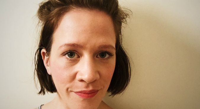 "The Glow's Lizzie wears the multi-purpose Models Prefer Cream Blush Stick in ""Love"". Image: Supplied."